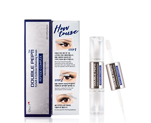 of kiss brow kits dec 2021 theres one clear winner DOUBLE PEPTI Eyelash & Eyebrow Enhancing Serum - Natural Growth Enhancer for Long, Luscious of Brows, Lashes and Hair Treatment - Premium Korean Beauty Lash Accelerator Serum
