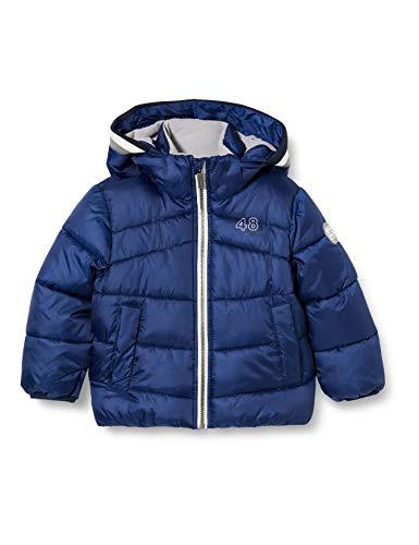 Sanetta Jungen Outdoor Jacke urban Blue Warme Winterjacke in Dunkelblau Kidswear in einem sportiven Look mit Abnehmbarer Kapuze, blau, 92