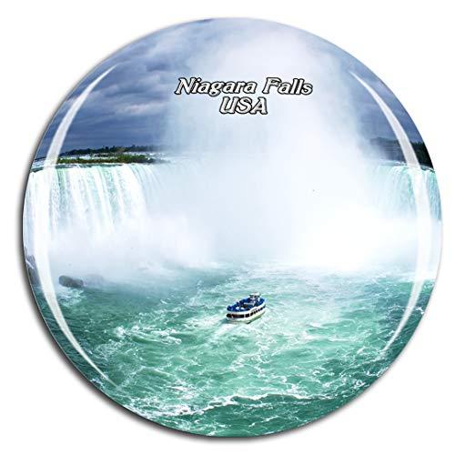 Weekino Stati Uniti d'America Cascate del Niagara Calamità da frigo 3D Cristallo Bicchiere Tourist City Viaggio Souvenir Collezione Regalo Forte Frigorifero Sticker