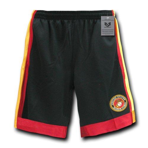 Rapiddominance Marines Basketball Shorts, Black, Medium