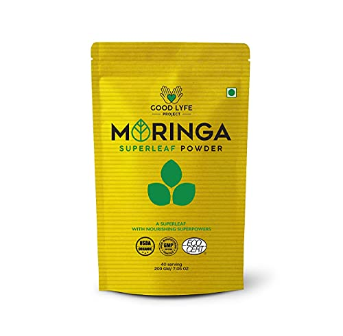 Jexmon Good Lyfe Project 100% Organic Moringa Oliefera Leaf Powder Superfood (400 GMS), USDA and Indian Organic Certified