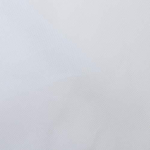 コスモテキスタイル 生地 チュール 15D 無地 ナイロン100% 約183cm幅×1mカット col.1 ホワイト 1820 ウェディング・コスプレ材料 パニエ 手芸・ハンドメイド用品