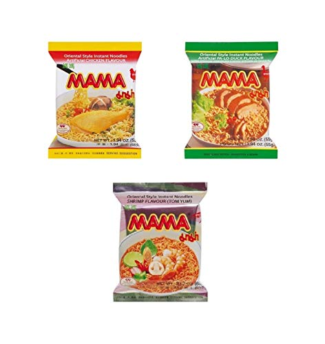 Pamai Pai® Mama Mischpaket: Ente - Shrimp - Huhn 30 x Tütensuppe 1700g Suppe Nudelsuppe