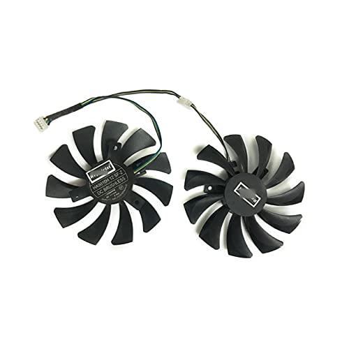 86mm RX 480/580 GPU VGA Fan del refrigerador para MSI RX480 RX580 Sistema de enfriamiento de Tarjetas de Videos de Armadura de Armadura como reemplazo (Blade Color : HA9010H 12 SF)