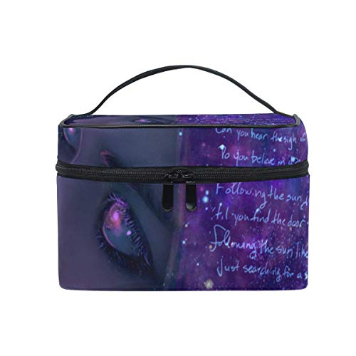 Trousse de maquillage Cute Galaxy Girl Cosmetic Bag Portable Large Toiletry Bag for Women/Girls Travel