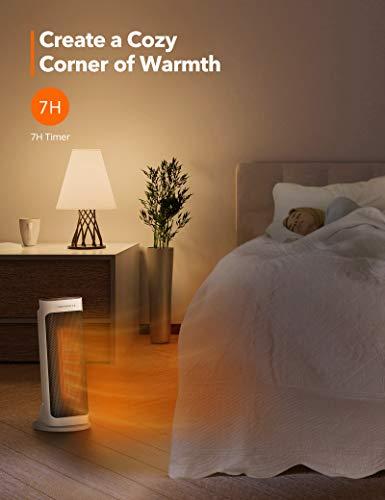 41+roo9oW7L - TaoTronics Fan Heater, Ceramic Fan Heater with Remote Control 2 Heating Levels (2000W / 1200W), Bathroom Energy-Saving…
