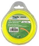 Riegolux 107665 Filo Decespugliatore Nylon Quadrato, Giallo, 2 mm x 20 m