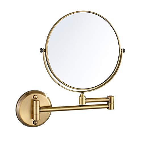 YSHCA Mural Miroir De Rasage Grossissant, Emerillon Double Face avec grossissement 3 Fois Grossissant pour Le Rasage cosmétique beauté,Bronze_8inch