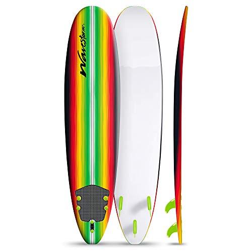 Wavestorm Classic 8' Surfboard Rasta Pinline Multi-Color