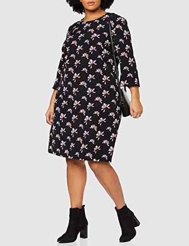 GERRY WEBER Damen Kleid Vintage Flower Mehrfarbig (Indigo/ Merlot/Elfenbein 8144), 44 - 3