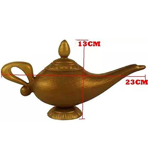 Zantec Plástico Cosplay Magic Navidad Halloween Panto Arabian para Aladdin Genie lámpara vestido de lujo Prop Decoraciones para el hogar