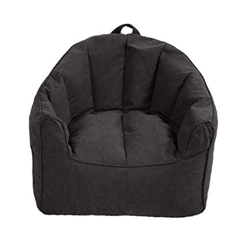 LDIW Sitzsack Hülle Bezug Ohne Füllstoff, Wechselbezug für birnenförmigen Sitzsack mit Reißverschluss ideal für Jugendliche und Erwachsene,Schwarz