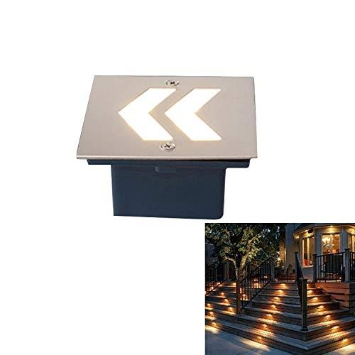 Lumière souterraine Éclairage extérieur encastré Buried Arrowhead Style de lumière Blanche Chaude 3W LED intégré Fondation Sign côté Mur Lampadaire, Taille: 70x70cm [ZRx]