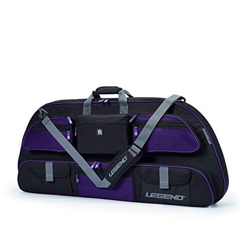 Legend - Apollo 44 Compound Bow Case (44' Inside Length) | Unrivaled Bow and Archery Equipment Protection in a Lightweight Portable Carrying Case | Pockets for All Your Accessories | (Black/Purple)