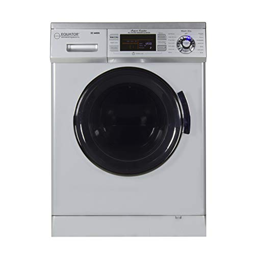 """Equator 2020 24"""" Combo Washer Dryer Silver Winterize+Quiet"""