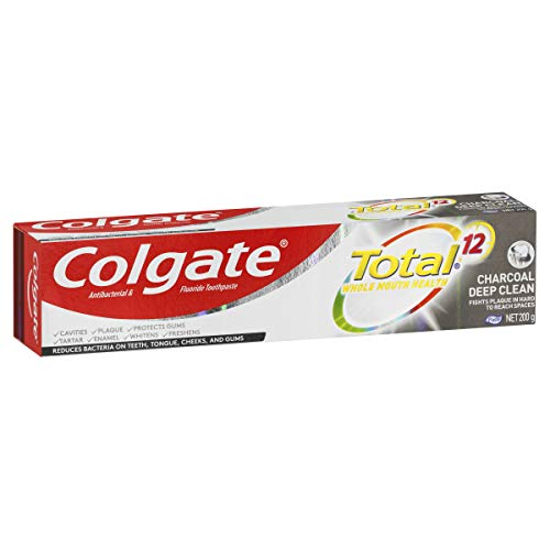 Colgate Total Charcoal Deep Clean Antibacterial Toothpaste, 200g, Whole Mouth Health, Multi Benefit
