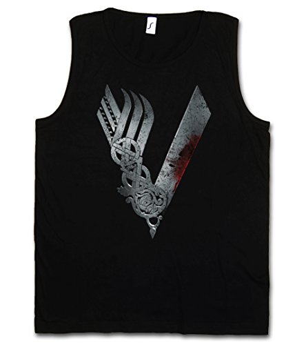 Urban Backwoods Vikings Logo Celtic Hombre Camiseta Sin Mangas Men Tank Top Negro Talla M
