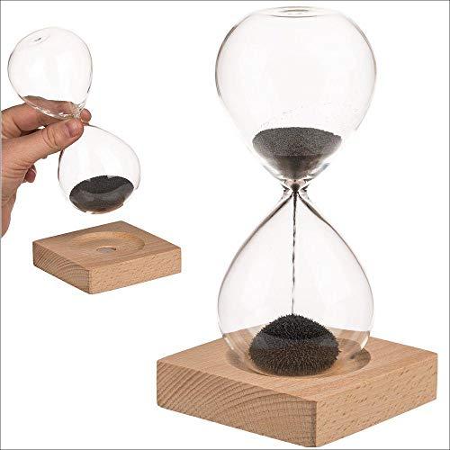 Sanduhr mit magnetischem Sand: HOURLASS / Sanduhr mit magnetischem Sand ca. 16 cm im Geschenkkarton