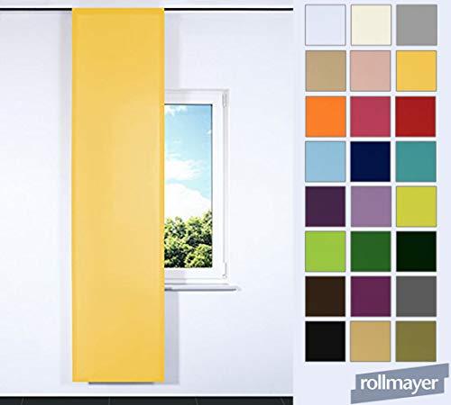 Rollmayer SCHIEBEVORHANG FLACHENVORHANG SCHIEBEPANEL SCHIEBEGARDINE Vorhang RAUMTEILER 60 x 200 cm Kollektion Vivid (Gelb 5, Klettband)