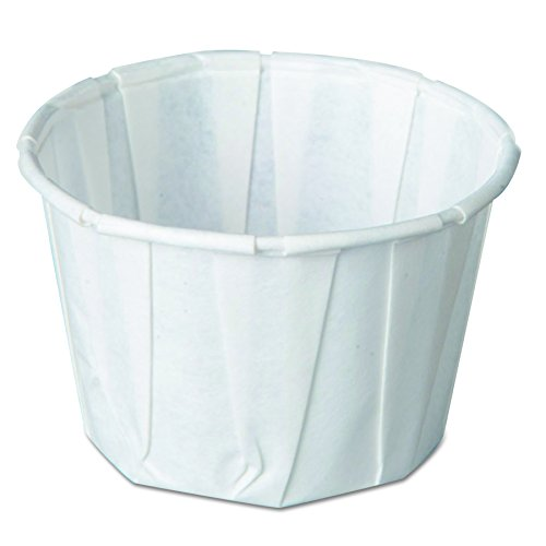 Genpak F200 2-Ounce Capacity 1-3/8-Inch Height White Color Pleated Paper Portion Cup 250-Pack (Case of 20)
