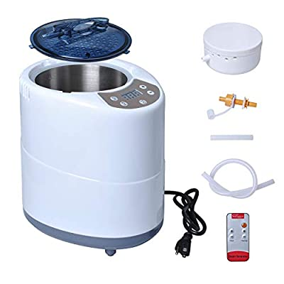 Wadoy Portable Sauna Steamer Pot 4 L for Home SPA Shower Body Relaxation,Spa Machine with Timer Display & Remote Control(110V)