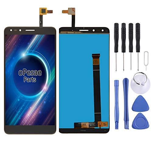 PENGCHUAN Partes de reparación de teléfonos móviles Pantalla LCD y Conjunto Completo del digitalizador for Alcatel Pop 4 7070 / OT7070 / OT7070 / 7070X / 7070Q / 7070A / 7070I (Color : Black)