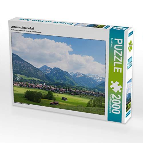 CALVENDO Puzzle Luftkurort Oberstdorf 2000 Teile Lege-Größe 90 x 67 cm Foto-Puzzle Bild von SusaZoom
