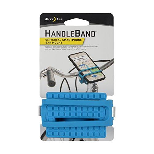Nite Ize HandleBand Universal Smartphone Bike Handlebar Mount, Bright Blue