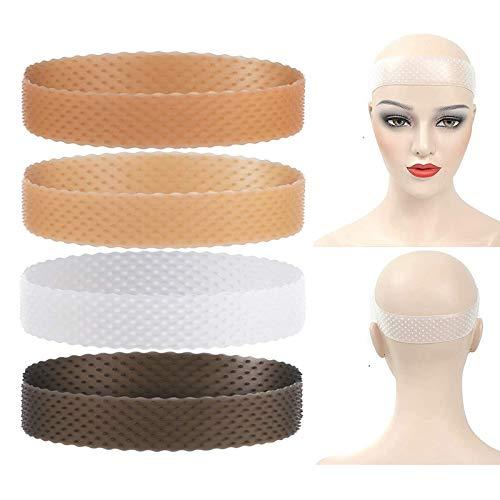 Hairish Secure Wig Gripper, Banda de silicona para peluca, Banda de agarre de peluca antideslizante, Banda de agarre de peluca de silicona, Diadema de comodidad elástica ajustable