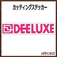 【ロゴ・文字】DEELUXE ディーラックス カッティングステッカー (チェリー, 横25x縦4.5cm 2枚組)