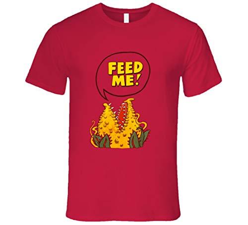 Little Shop of Horrors Feed Me - Maglietta con scritta 'Audrey II', colore: Rosso Nero 3XL