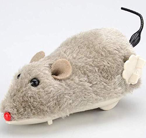 Ein Katzenmaus-Spielzeug, ein bewegliches Maus-Spielzeug, realistisches Katzenspielzeug, interaktive Maus, Spielzeug für Innenkatzen ohne Strom,Uhrwerk-betriebenes Katzenspielzeug mit Maus 3 Stück