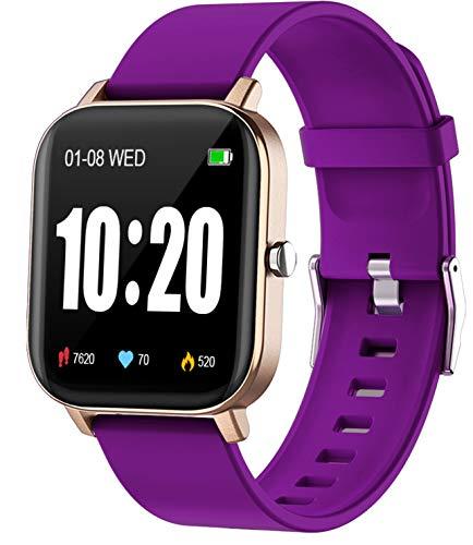 Reloj inteligente, PUBU IP68 impermeable reloj de fitness para teléfonos Android iOS iPhones, monitor de ritmo cardíaco para mujeres, IP68 impermeable Step Tracker reloj para hombres