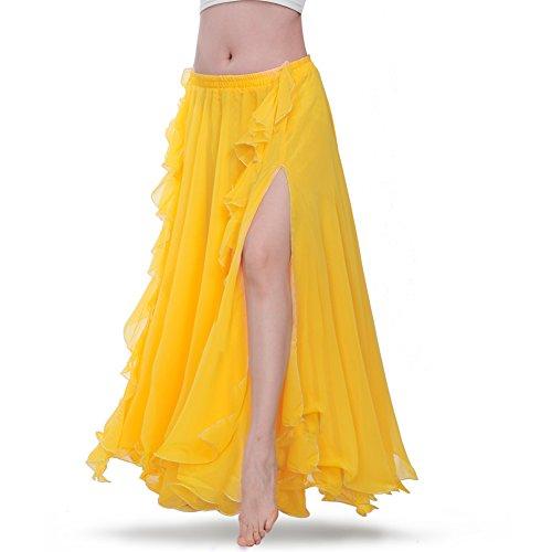 ROYAL SMEELA Falda Danza del Vientre Mujer Traje de Falda largas la Danza del Vientre Vestido Falda chifón de práctica de Baile Ropa de Rendimiento Falda Flamenca Disfraz Mujer