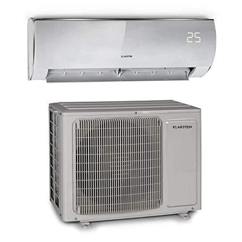 Klarstein Windwaker Eco - Aire acondicionado dividido, Split, Para calor y frío, Eficiencia energética A++/A+, 5 modos, Pantalla LED, Mando distancia, 680 m³/h, 12.000 BTU/h (3,5 kW), Hueso