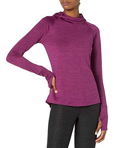 Amazon Brand - Core 10 Women's Plus Size Be Warm Brushed Thermal Hoodie, Violet Heather, 1X