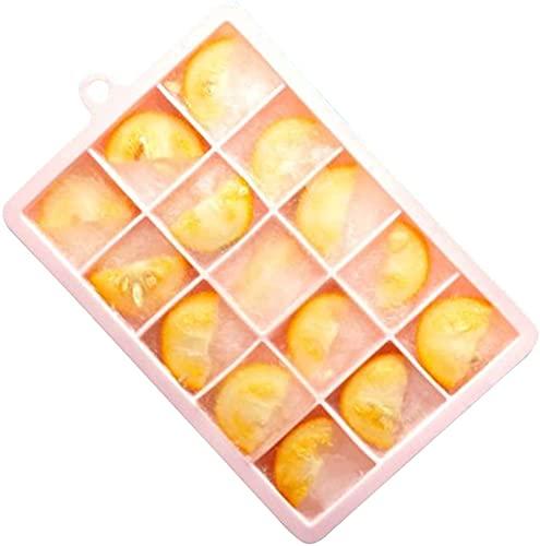 Molde-Silicona de Cubitos de Hielo/con Tapa/Desodorante/de desmoldeo fácil, Utilizado para Cubitos de Hielo/complemento alimenticio inlijianzhugon