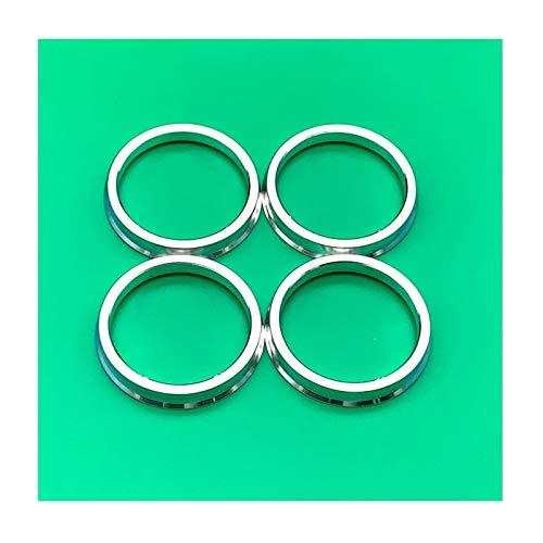 Separadores De Ruedas 4pcs / set HUB de aluminio Anillos espaciadores centrados en el centro de la rueda del automóvil Cuello central 66.6-57.1mm Uso de ajuste para Audi Separadores Ruedas