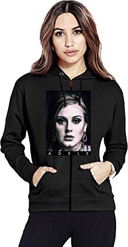Adele Portrait Photo Famous Merchandise Womens Zipper Hoodie X-Large