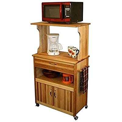 Catskill Craftsmen Microwave Cart with Open/Enclosed Storage by Catskill