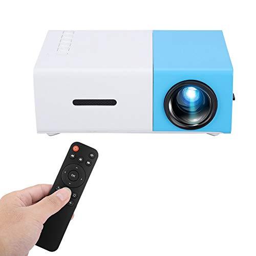 Mini Proyector, Proyector HD con Alta ResolucióN, Proyector PortáTil con Interfaz MultifuncióN, Proyector De Video para Sala De Estar, Dormitorio, Sala De Estudio(Enchufe DE LA UE)