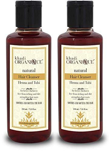 Glamorous Hub Khadi Organique Henna Tulsi - Champú/limpiador para el cabello, paquete de 2 (el empaque puede variar)