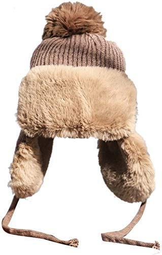 Sombrero De Lana Moda Otoño Invierno Lei Feng Gorra Mujeres Coffce Y Hombres Color Sólido Bola De Pelo Al Aire Libre A Prueba De Viento A Prueba De Viento Sombreros, Frio Peluche Lei Feng Sombrero