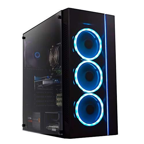 Periphio Gaming Desktop Computer Tower PC, Intel Quad Core i5 3.1GHz, 8GB RAM, 128GB SSD + 1TB 7200 RPM HDD, Windows 10, GeForce GTX 1650 4GB Overclocked Edition Graphics Card RGB HDMI Wi-Fi (Renewed)