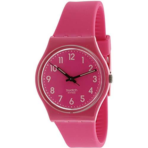Swatch Women's Dragón Fruit GP128K Pink Plastic Swiss Cuarzo Fashion Watch
