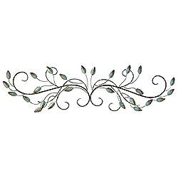 Stratton Home Decor SHD0065 Patina Scroll Leaf Wall Decor, 40.00 W X 1.00 D X 10.00 H