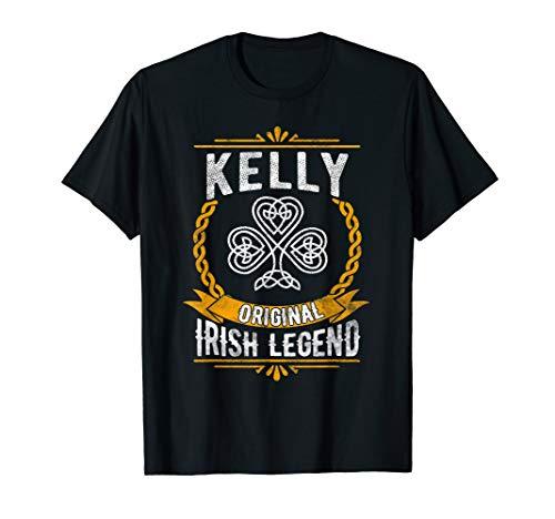 Kelly Irish Name Gift Vintage Ireland Family Surname T-Shirt
