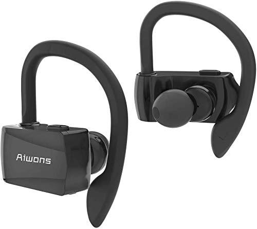 aiwons Bluetooth Kopfhörer, Ear Sport Drahtlose Ohrhörer, Bluetooth 5.0 Wireless Headset mit Mikrofon, 8 Stunden Wiedergabe, IPX7 wasserdichte Kopfhörer für iPhone Android