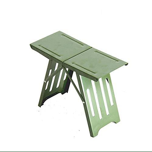 STRAW Außenklapphocker, Bequeme Ministahlangelhocker, kleinen, leichten tragbaren Sitz Faltbare Campingstuhl