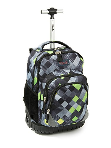 Tilami Rolling Backpack Armor Luggage School Travel Book...